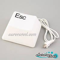 Дизайнерський Нічник клавіша Esc. LED каганець. Світлодіодний світильник-нічник., фото 1