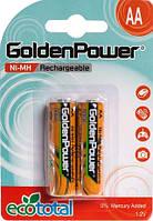 Аккумуляторы AA 2100 mAh 2 шт GOLDEN POWER, фото 1