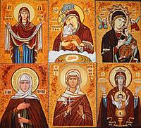 Картины и иконы из янтаря