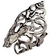 Мыски/носики металлические декоративные №5 Тёмный никель