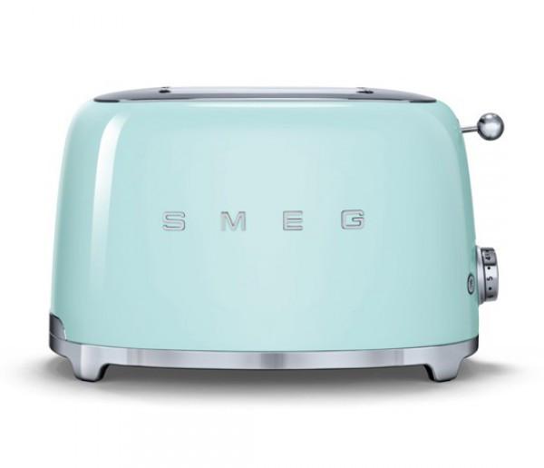 Тостер Smeg пастельно зеленый TSF01PGEU