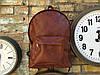 Коричневый матовый рюкзак из фактурной эко-кожи