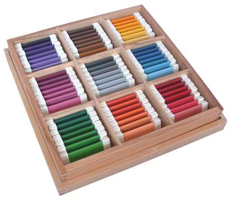 Цветные таблички - ящик №3  , размер пластинок 70*40*2 мм