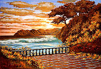 Картина из янтаря Вид на море
