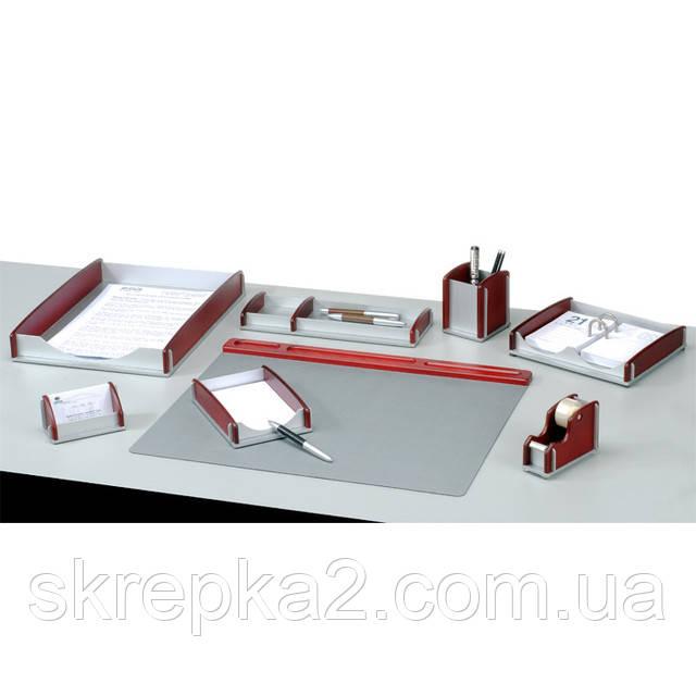 Настольный набор BESTAR 8 предм. 8164HDX орех+алюминий - ООО «Скрепка». Офисные принадлежности и канцтовары в Виннице