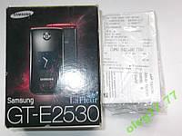 Коробка, інструкція телефона Samsung E2530