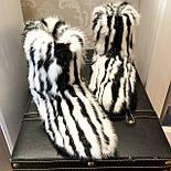 Женские стильные угги полностью с мехом кролика, фото 2