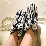 Женские стильные угги полностью с мехом кролика, фото 3