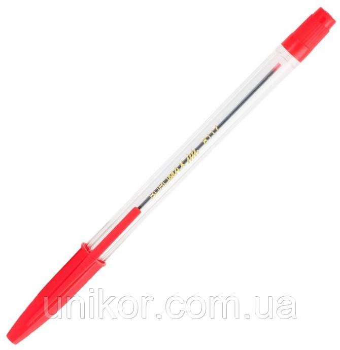 Ручка шариковая корпус прозрачный, BM.8117 стержень красный. BuroMax