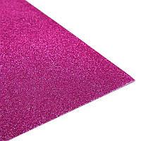 Фоамиран 2 мм с глиттером 20х30 см Фуксия (Розовый) самоклейка