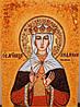 Икона из янтаря Святая Людмила Чешская