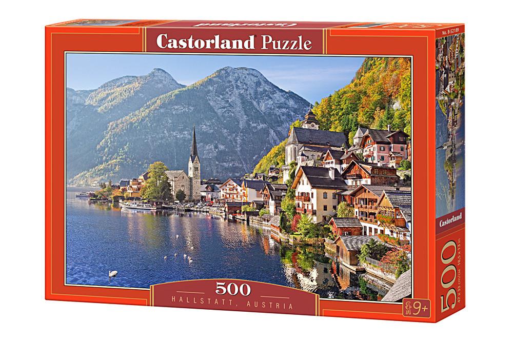 """Пазлы Castorland на 500 деталей. """"Гальшат, Австрия"""". Полный ассортимент. Польша оригинал. Быстрая доставка."""