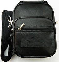 Недорогая компактная мужская сумка через плече. Кожаная спортивная  барсетка. Сумка для денег. Код 74cc6c618ab02
