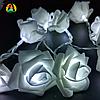 Светодиодная гирлянда Белые Розы 2м 20LED на батарейках АА