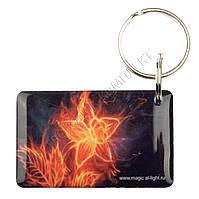 """Заготовка ключа для домофона RFID 5577, """"Огненный цветок"""", перезаписываемая"""
