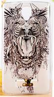 Cиликоновый чехол Лев для Lenovo А2010, фото 1