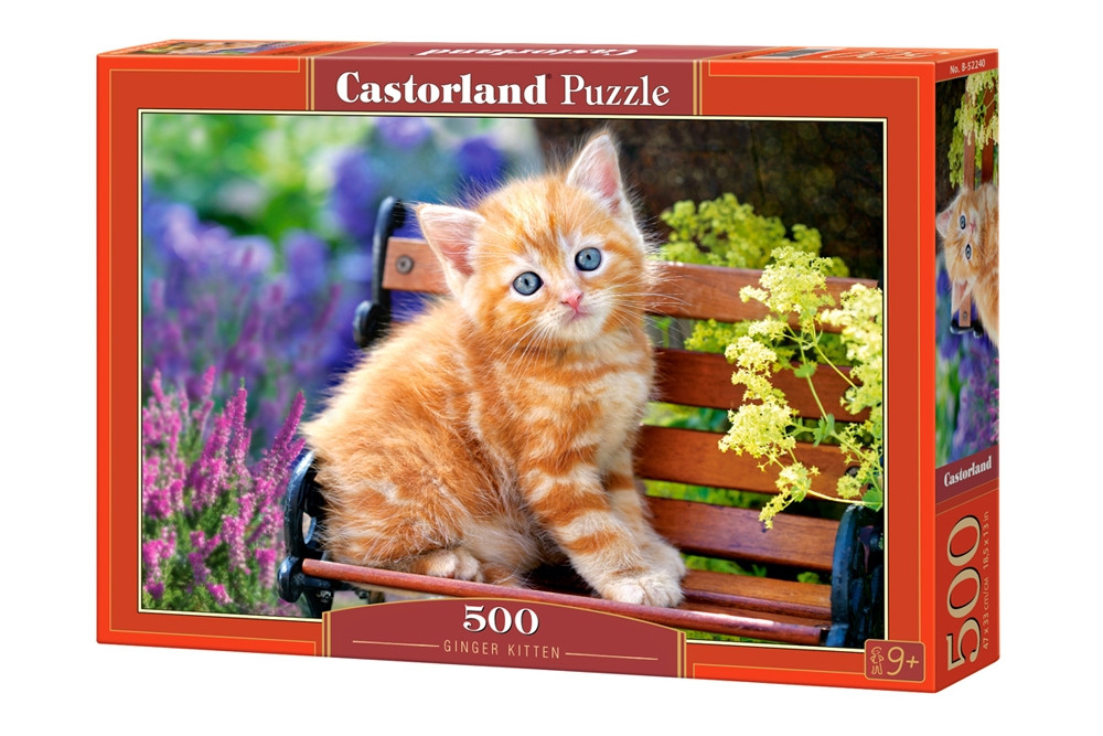 """Пазлы Castorland на 500 деталей. """"Рыжий котенок"""". Полный ассортимент. Польша оригинал. Быстрая доставка. Гаран"""