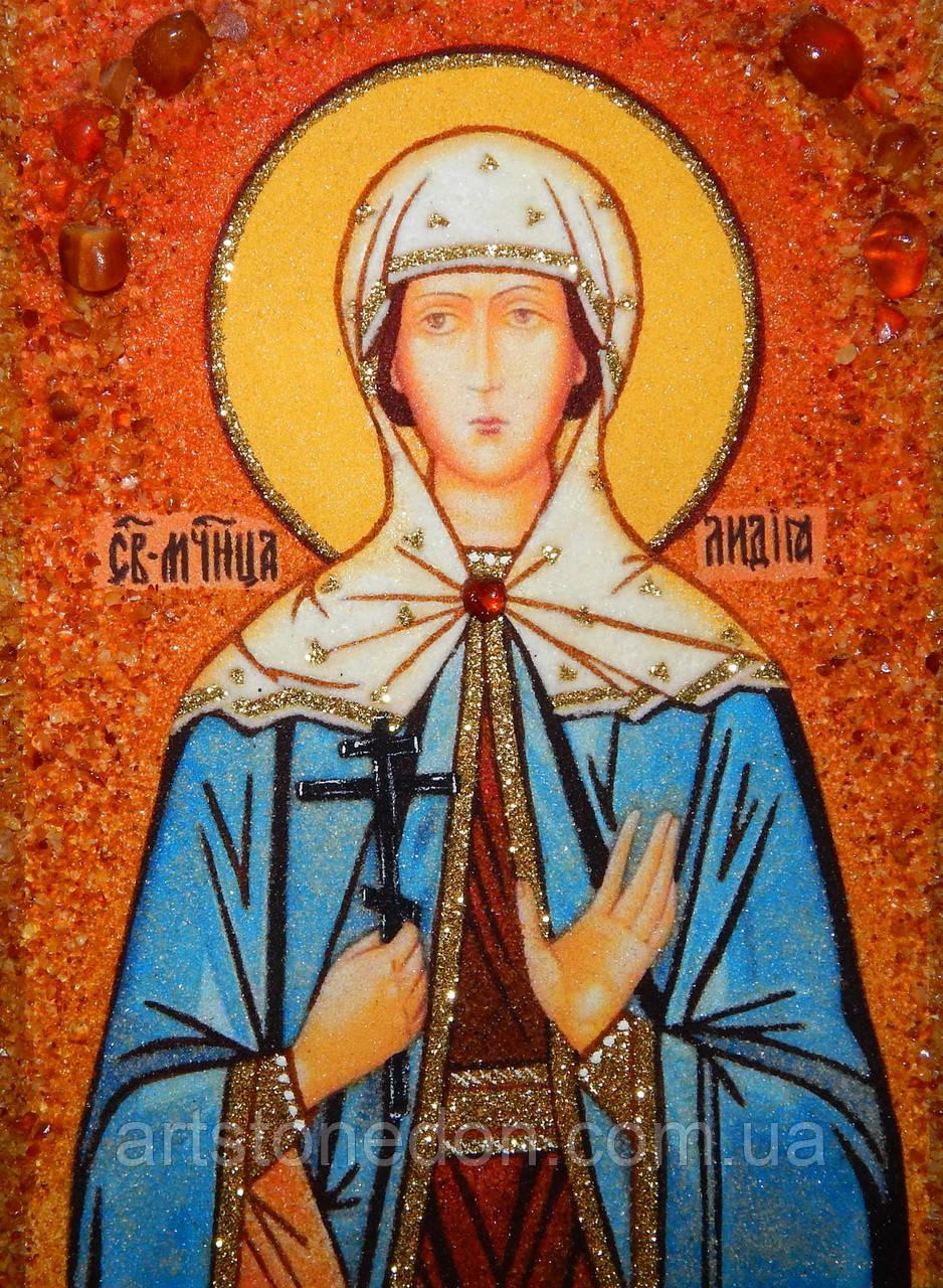 Иконы и картины из янтаря. Икона из янтаря Святая Лидия