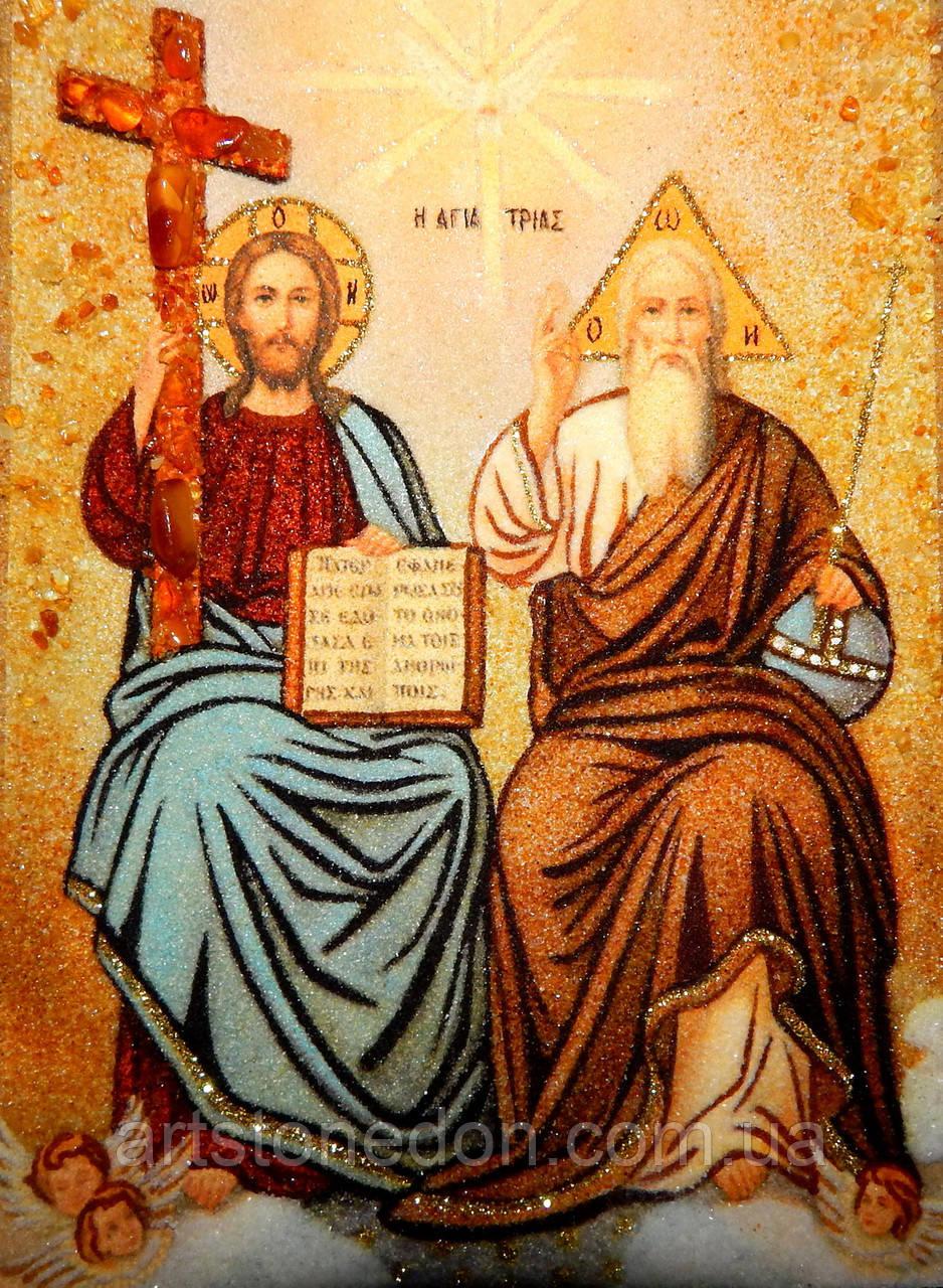 Икона из янтаря Пресвятая Троица