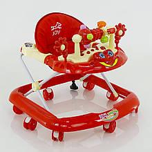 Детские ходунки музыкальные модель 528 (красные)