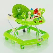Детские ходунки музыкальные модель 528 (зеленые)