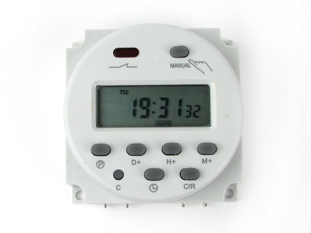 Таймер CN101A недельное часовое реле времени питание 12В нагрузка 220В 16А