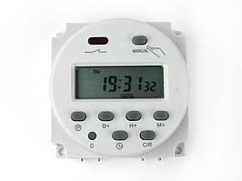 Недельное часовое реле таймер CN101A Реле времени питание 12В нагрузка 220В 16А