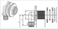 RAUTITAN MX 16 - угольник настенный для ДСП, короткий