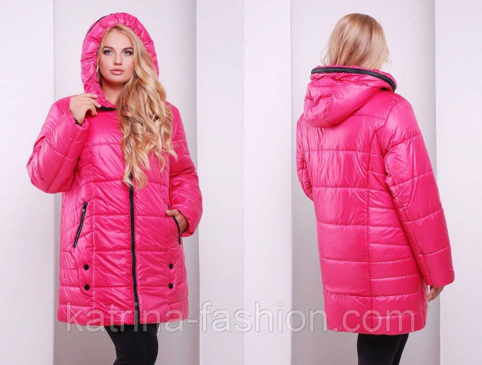 52d9411de87 Женская стильная зимняя куртка больших размеров (3 цвета) 58 ...
