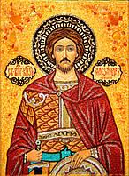 Икона из янтаря Святой Александр Невский