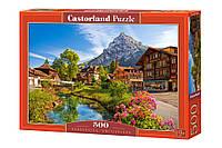 """Пазлы Castorland на 500 деталей. """"Кандерштег, Швейцария"""". Полный ассортимент. Польша оригинал."""