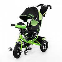 Велосипед трехколесный Baby Tilly Camaro T-362 фара зелёный, фото 1