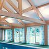 Матовый натяжной потолок для бассейна