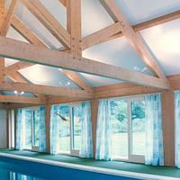 Матовый натяжной потолок для бассейна, фото 1