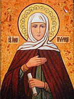 Икона из янтаря Праведная Анна Пророчица