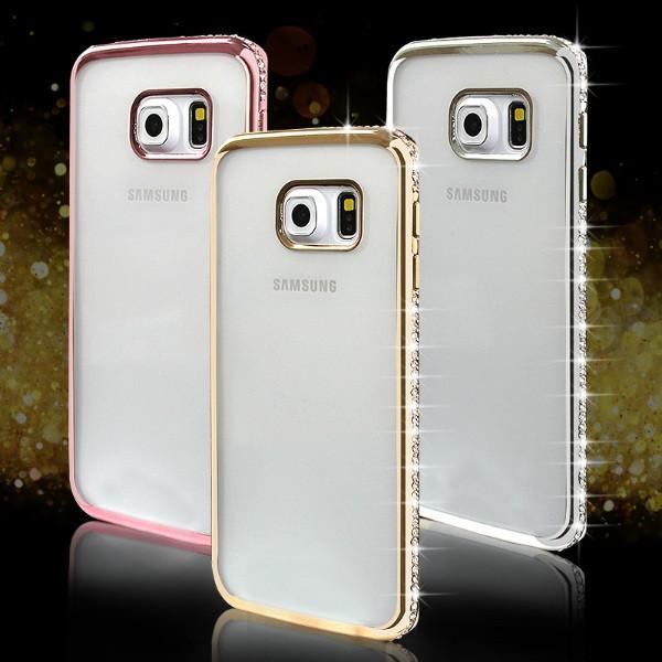 Чехол для Samsung J7 J710 2016 силиконовый со стразами, фото 1