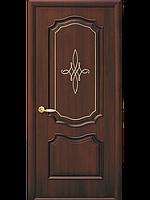 """Дверь межкомнатная глухая """"Рока"""" Каштан - с гравировкой Gold (Новый стиль)"""