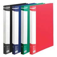 Папка-скоросшиватель плотн. А4 BuroMAX 3407-99 пласт. с карманом цвета в ассортименте