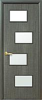 """Дверь межкомнатная """"Сахара 4S"""" Ясень - стекло сатин (Новый стиль)"""