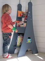 """Стеллаж для книг и игрушек деревянный """"Эйфелева башня"""" ручной работы"""