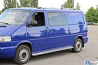 Volkswagen T4 Caravelle/Multivan Рейлинги Хром Длинная база, Пластиковые ножки