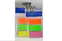 Стикеры - закладки клеящиеся пластиковые 20  х  45 мм.