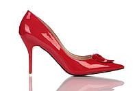 Туфли женские на каблуке Loren Leather Pumps, туфли лорен красные