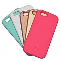 Чехол с LED подсветкой розово-золотой для Iphone 6/6S