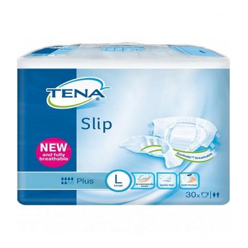 Подгузники для взрослых TENA Slip Plus Large 30 шт. (дышащие). Обхват талии 92-144см.