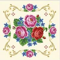 """Заготовка для вышивки подушки  """"Винтажные розы"""""""
