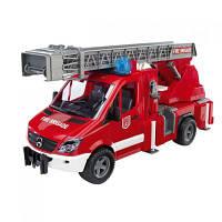 BRUDER игрушка - пожарный МВ Sprinter с лестницей (+водяная помпа+свет и звук), М1:16 (02532)