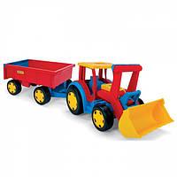 Wader Детский трактор с прицепом и ковшом 66300SK