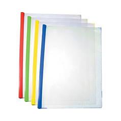 Папка-скоросшиватель А4 Economix Е31211-0304 пластиковая с планкой-прижимом