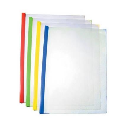Папка-скоросшиватель А4 Economix Е31211-0304 пластиковая с планкой-прижимом, фото 2